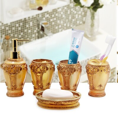 Traditional Golden Bathroom Set