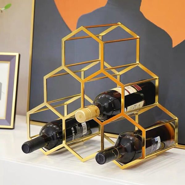 Gold Wine Rack