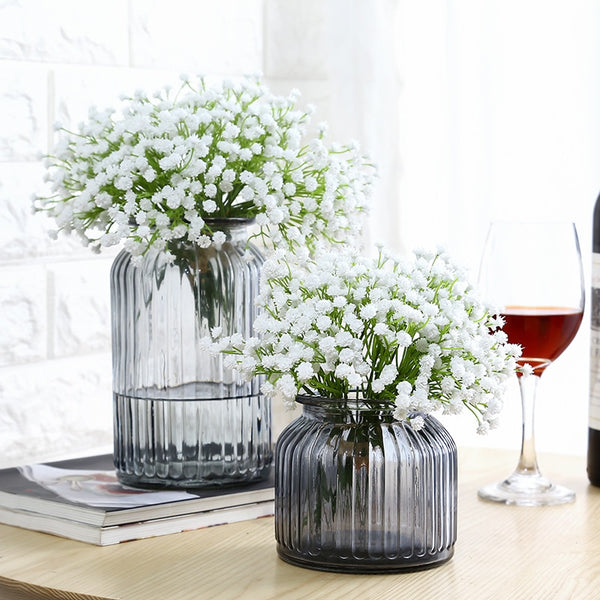 Colored Transparent Flower Vase