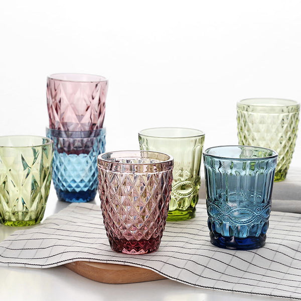 Embossed Glass Cup