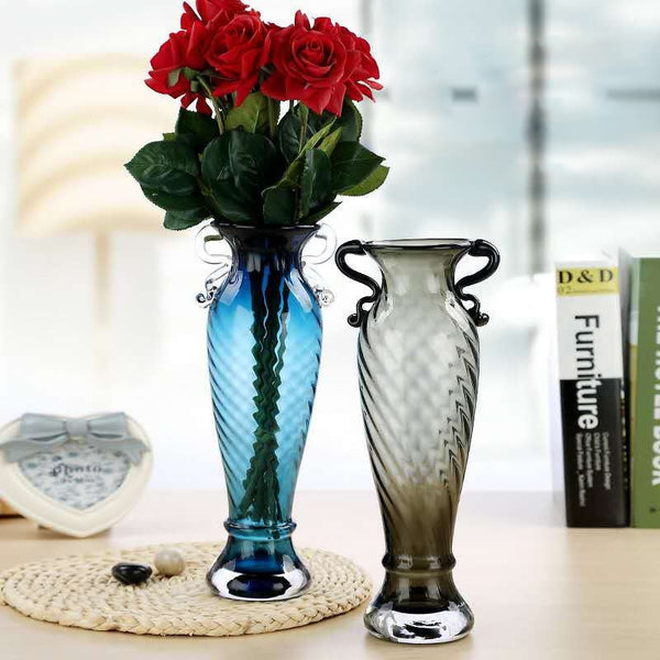 Modern Transparent Glass Vase