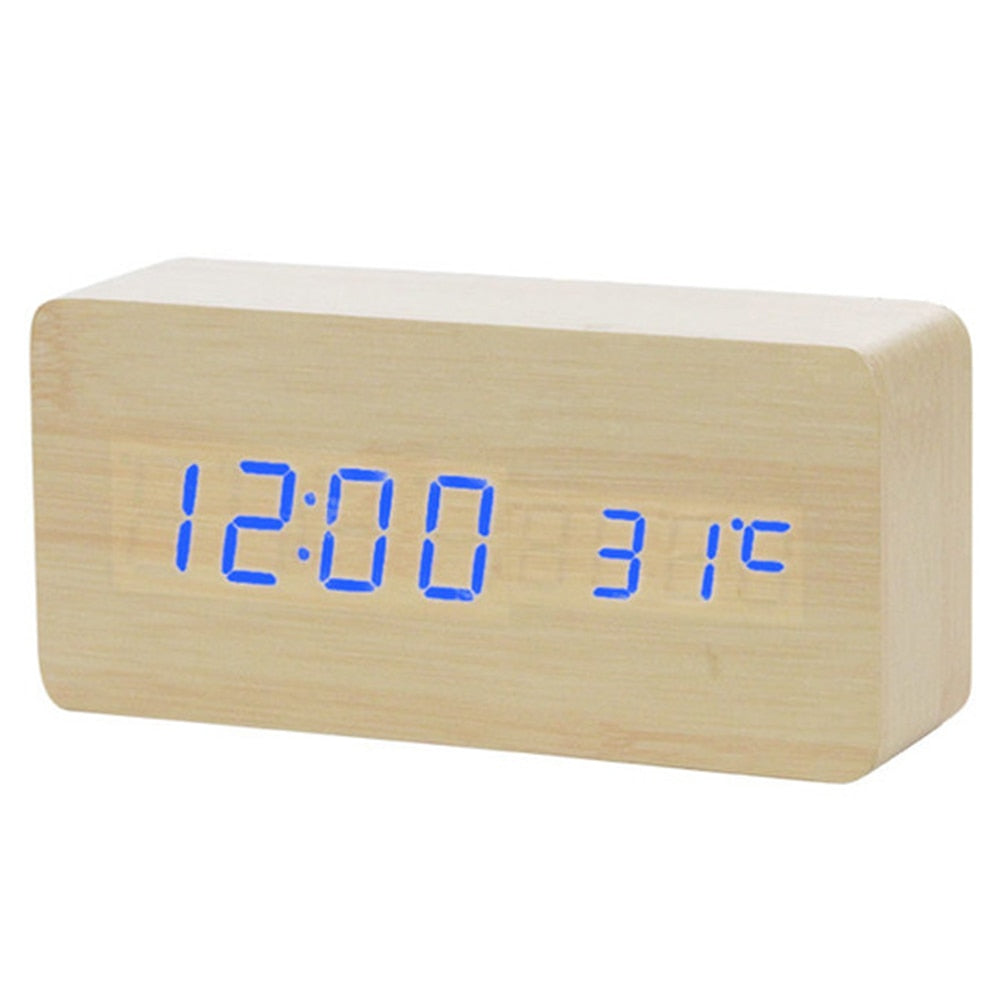 Rectangle Wooden Clock