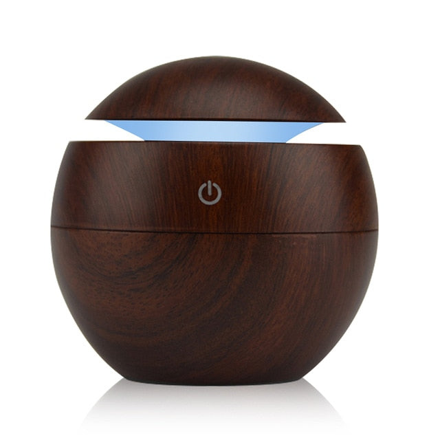 Wooden Style Lamp With Air Purifier