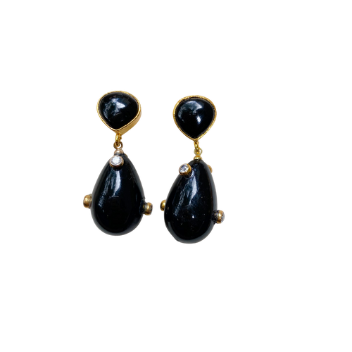 Party Drop Earrings - Black