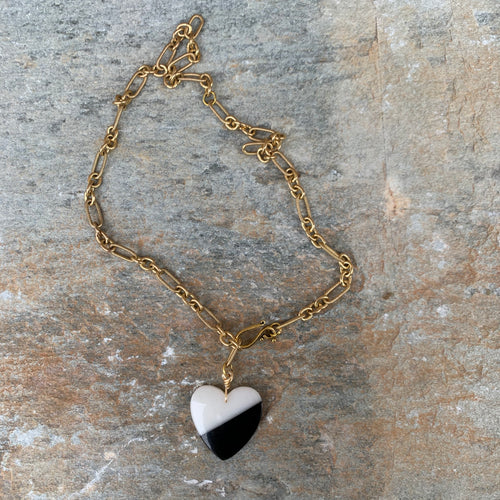 Open Heart Necklace -Jade