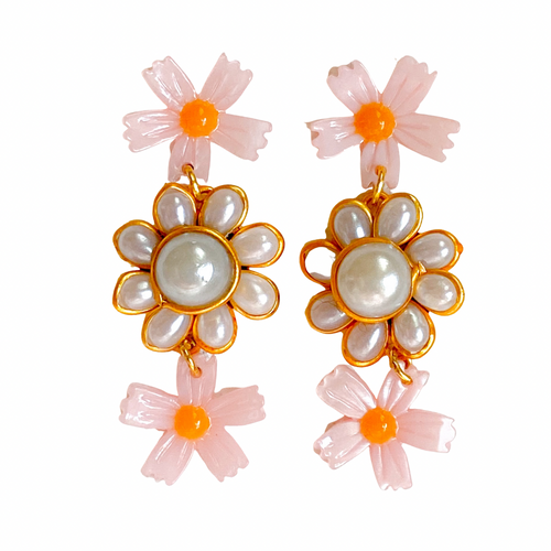 Flower Trio Earrings