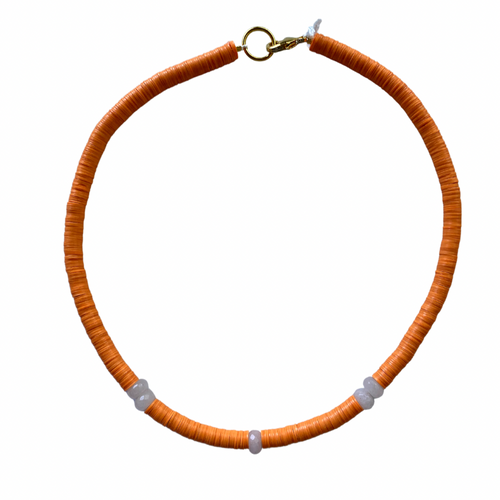 Orange Pool Necklace