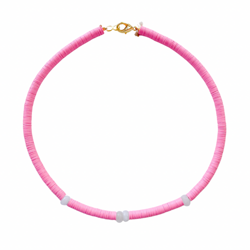 Pink Pool Necklace