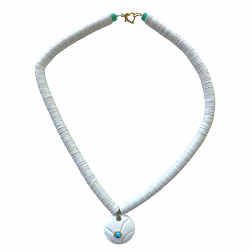 White Pool Necklace