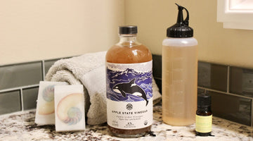 Apple State hair rinse with essential oils