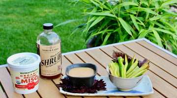 A Shrub Goddess Dressing Made with Shiso, Miso, and Love