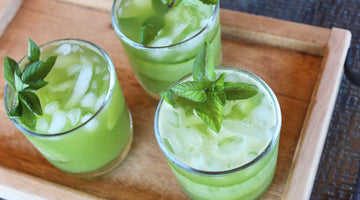 Minty Cucumber Limeade with Pineapple & Sage Shrub