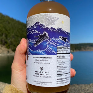 Organic Raw Apple Cider Vinegar (6% acidity)-Apple State Vinegar
