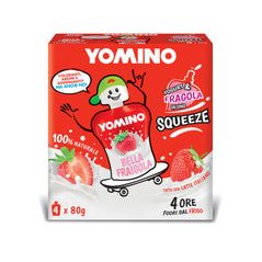 Yogurt Yomino 100% naturale Fragole 4x80g