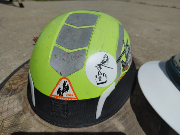 Drag-N-Fly Hard Hat Sticker - Linewife