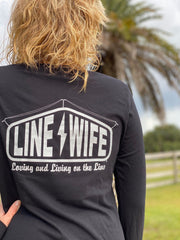 Black and Silver Long Sleeve Linewife Performance Shirt