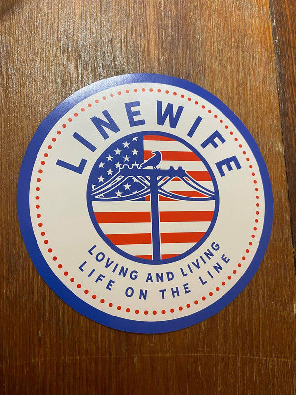 American Linewife Magnet Linewife USA Magnet