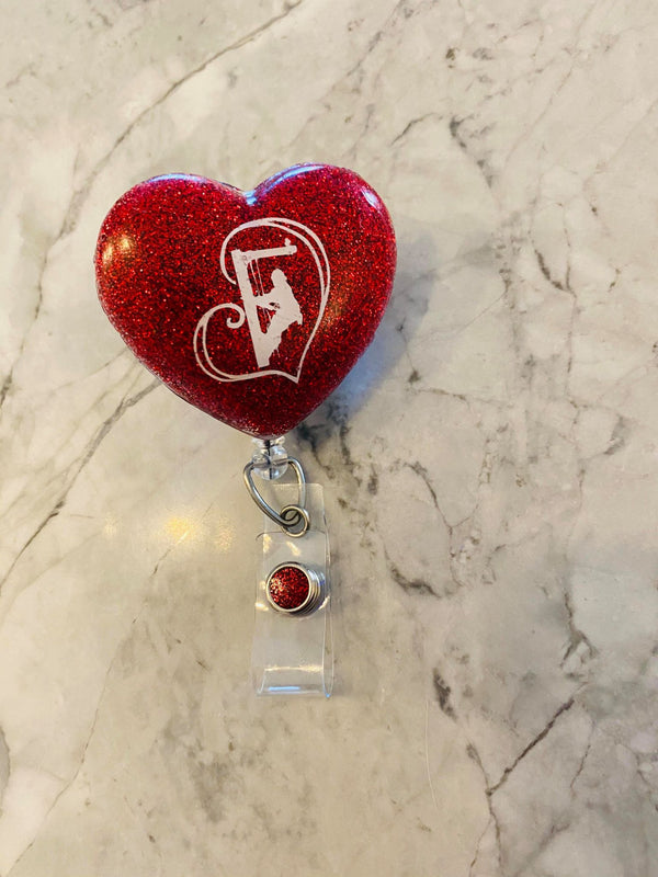 Lineman Heart Badge Holders