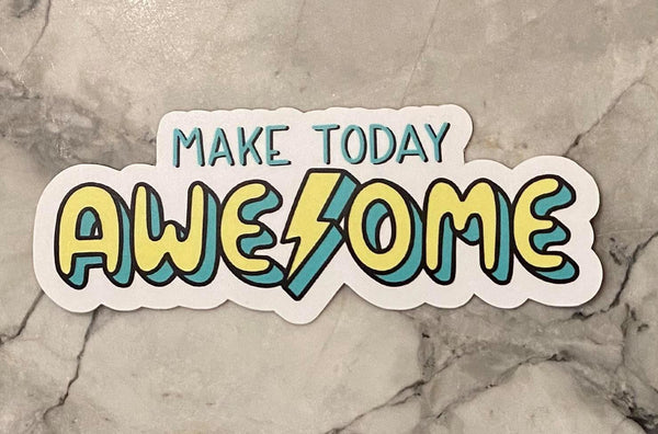 Make Today Awesome Lighting Bolt Sticker