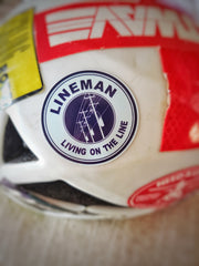 Lineman Hard Hat Sticker