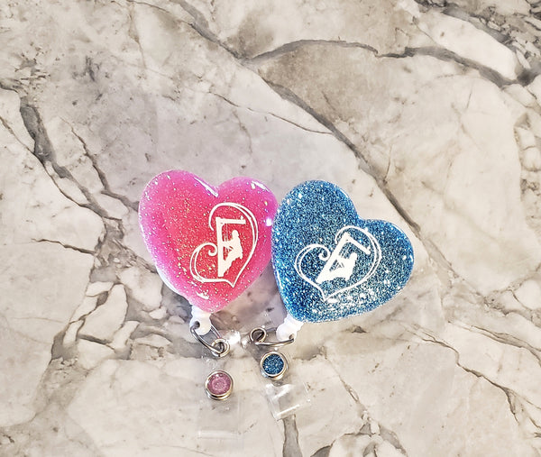 Lineman Heart Badge Holders - Linewife