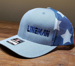 American Flag Lineman Trucker Hat