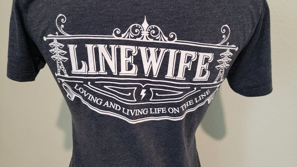Linewife Blue V-Neck Shirt Transmission Tower