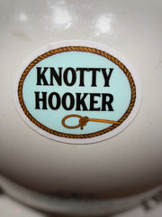 Knotty Hooker Lineman Hard Hat Sticker