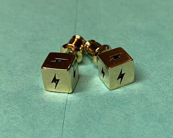 Lightning bolt dice earrings