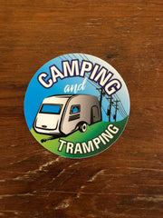 Camping and Tramping Linelife Sticker