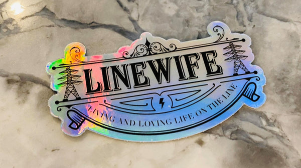 Small Transmission Holographic Sticker - Linewife