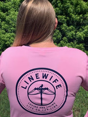 Ladies Pink Linewife Dri-fit