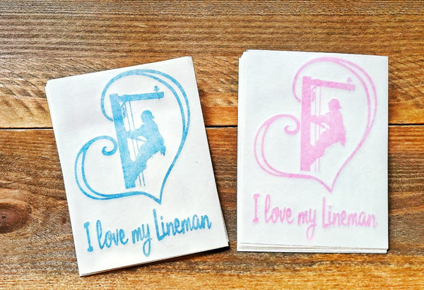 I love my Lineman Heart Stickers - Linewife