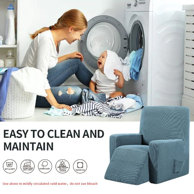 Introducing our Decor Home Store Recliner Cover Slipcover. #1 rated sofa cover styles. Stretchable material, machine washable cover. Extreme comfort and protection from pets and kids.