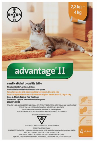 Advantage II for Small Cats