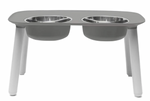 Elevated Feeder with Stainless Steel Bowls