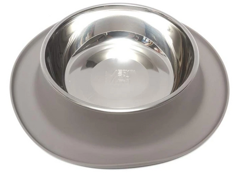 Silicone Feeder with Stainless Steel Bowl