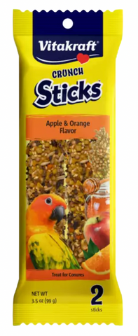 Apple & Orange Conure Crunch Sticks