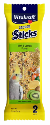 Kiwi & Lemon Cockatiel Crunch Sticks
