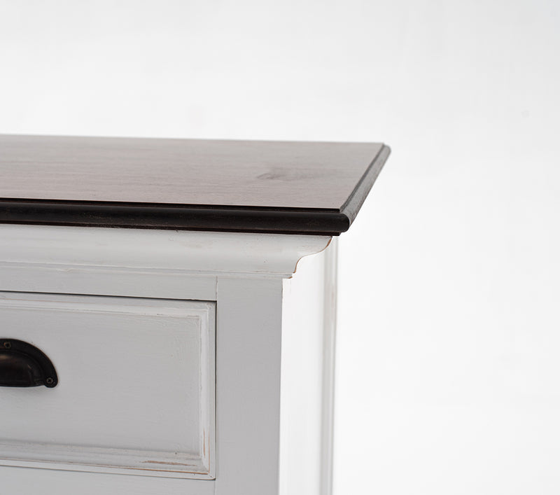 Halifax Accent Buffet - White with Brown Top