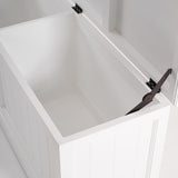 Halifax Medium Blanket and Storage Box - White
