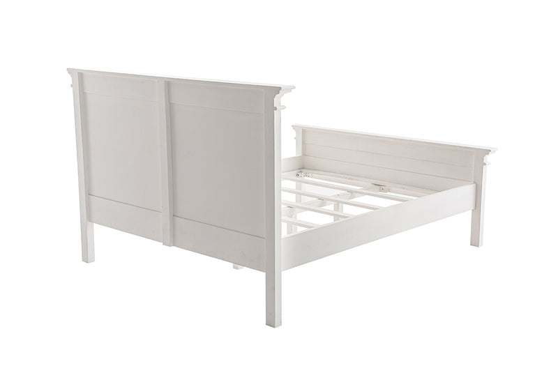 Halifax Queen Bed with Footboard - White