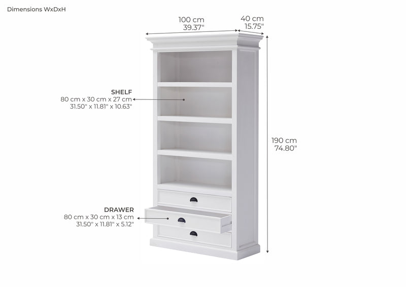 Halifax Bookcase - White