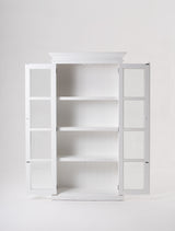 Halifax Double Vitrine - White
