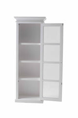 Halifax Single Vitrine - White