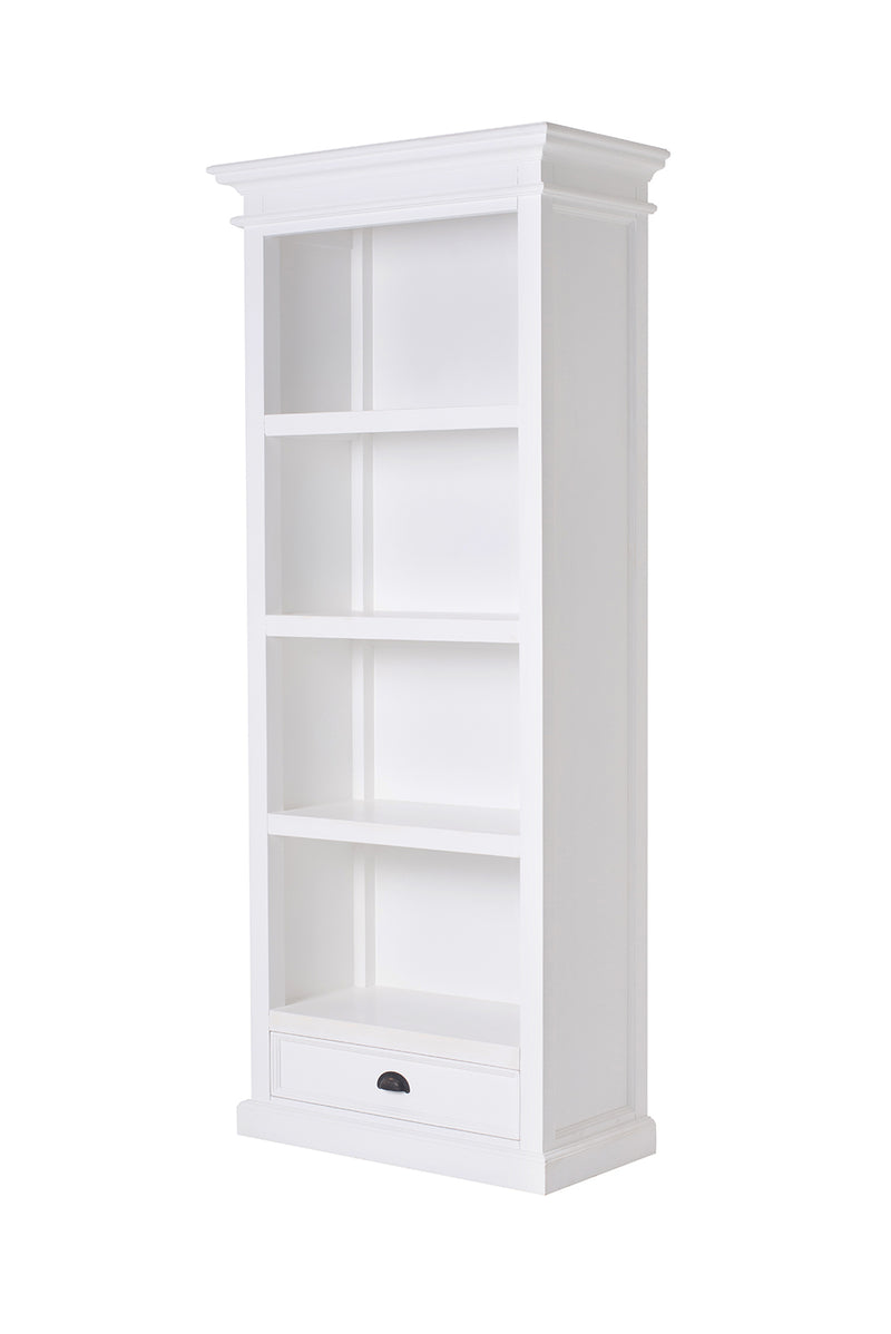 Halifax Medium Bookcase - White