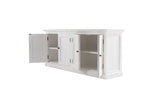 Halifax Medium Hutch Bookcase - White