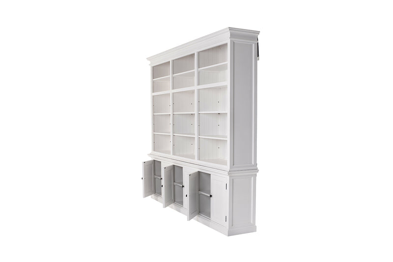Halifax Large Hutch Bookcase - White