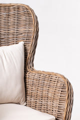King Kubu Rattan Arm Chair With Cushion