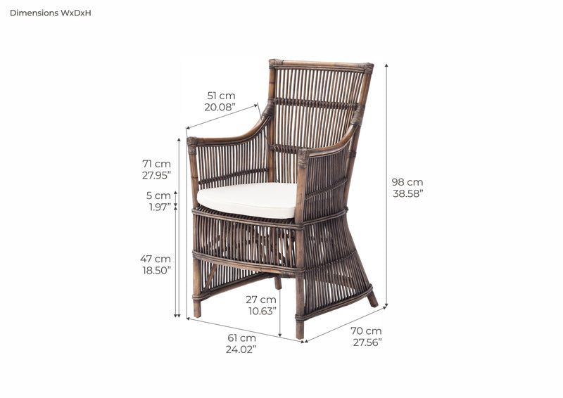 Duchess Kubu Rattan Arm Chair (Set of 2)